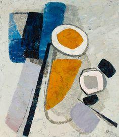 lawrenceleemagnuson:  Marthe Donas (Belgium 1885-1967)Intuition No. 19, 1958oil on canvas 79×70.5 cmhttp://marthedonas.be