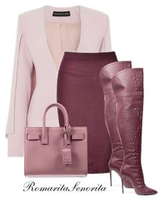 A fashion look from November 2015 featuring Brandon Maxwell jackets, Ally Fashion skirts and Yves Saint Laurent handbags. Browse and shop related looks. Classy Outfits, Chic Outfits, Fashion Outfits, Womens Fashion, Fashion Trends, Fashion Skirts, Fashion News, Fashion Beauty, Mode Outfits