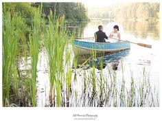 row boat bride and groom
