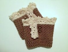 Like this lacy boot cuff idea.