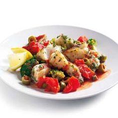Vis uit de wok met olijven
