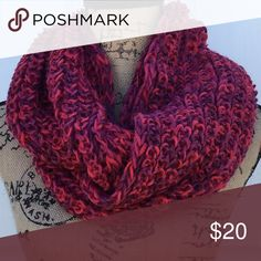 Multicolored Infinity Scarf - NEW! Multi colored knitted infinity scarf. (Shades of red) Size is approximately 54 inches and is made from 100% polyester yarn. New without tags. Accessories Scarves & Wraps