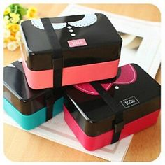 Lunch bowl tableware dinnerware food container bento New Simple Romantic Tie 2 double layers for friend Kid Lovers Microwave use Japanese Bento Lunch Box, Sushi Lunch, Japanese Sushi, Bento Box Lunch, Japanese Style, Sushi Food, Sushi Recipes, Lunch Box Recipes, Sushi For Kids