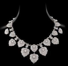 http://www.NiravModi.com/ Bodhi #Necklace featuring over 45ct of oval, pear, marquise and calibre-cut baguettes and patented Mughal-cut diamonds.