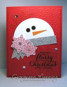 Résultats de recherche d'images pour « card making ideas christmas stampin up Christmas Paper Crafts, Homemade Christmas Cards, Christmas Cards To Make, Noel Christmas, Xmas Cards, Homemade Cards, Handmade Christmas, Holiday Cards, Punch Art Cards