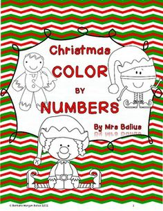 Christmas Color by Number .$