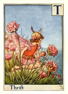 Cicely Mary Barker - another I have in Trinity's room.  My absolute favourite fairy.