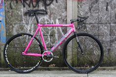 Pink Cadence fixie frame
