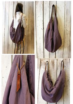 "Large Handmade Italian Canvas & Leather backpackTote ""City"" di LaSellerieLimited su Etsy"