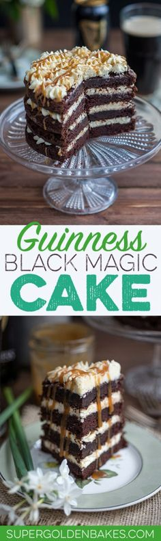 Guinness Black Magic Cake with ermine frosting and whiskey caramel