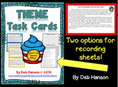 16 task cards to practice identifying theme! $