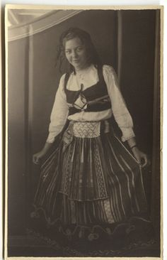 Gypsy costume exotic rajar real photo postcard girl by odpeacock, $14.00