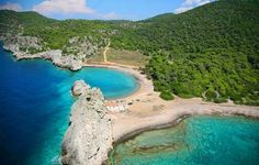 Milokopi beach in Corinth bay, near Athens, Greece Corinth Greece, Corinth Canal, Mykonos Greece, Athens Greece, World Of Color, Eastern Europe, Cool Places To Visit, Natural, Serenity