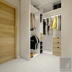 Dom w Milanówku Walk In Closet, Dressing Room, Sweet Home, Entryway, Home And Garden, Interior Design, Projects, Furniture, Home Decor