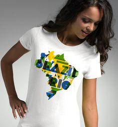 I Love Brazil Rio de Janeiro 2016 Olympic Games Sport Amazon River Black Gray White T-shirt Tee Top Present Woman's Hoodie Sweathirt Unisex by ForgeOfCotton on Etsy