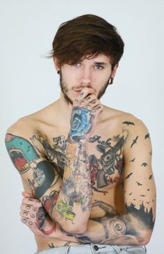 Dawid Auguscik by IanSmolderhalder on deviantART Boy Tattoos, Body Art Tattoos, I Tattoo, Tattoos For Guys, Tattooed Guys, Beautiful Men, Beautiful People, Gorgeous Guys, Pretty People