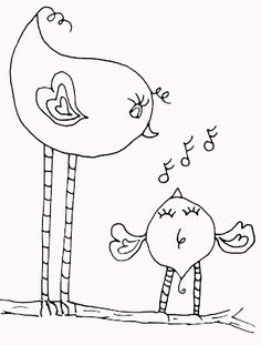 Cruzines-The Thoughts and Art of Tori Beveridge: Crudoodle - Free Digital Stamp, All The Little Birdies