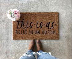 Welcome to our perfect chaos doormat wedding gift ideas Outdoor Acrylic Paint, Outdoor Paint, Indoor Outdoor, Front Door Mats, Front Porch, New Homeowner Gift, Custom Mats, Funny Doormats, Coir Doormat