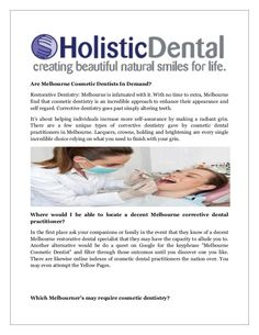 Keep smiling and to keep smiling you need to have sound oral health. Take the help of best dentists of Melbourne, Holistic Dental clinic.