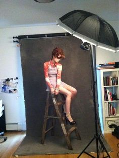 lara jade shooting in her apartment..Photo backdrop and shooting inspirations at Monica Hahn Photography