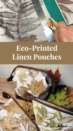 nice Eco-Printed Linen Pouches – Made By Barb – simply hand sewn medianet_width = medianet_height = medianet_crid = medianet_versionId = (function() { var isSSL = 'https:' == document. Fabric Painting, Fabric Art, Fabric Crafts, Textile Dyeing, Textile Art, Dyeing Fabric, Shibori, Hand Sewn Crafts, Natural Dye Fabric