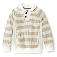Target: Infant Toddler Boys' Striped Long Sleeve Collared Henley Tee