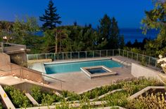 Secluded swimming with a view in West Vancouver #blurrdMEDIA #architecture #photography