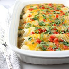 Cheesy Chicken Enchiladas | Taste And See