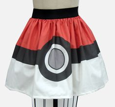 Pokeball Full Skirt by GoFollowRabbits on Etsy, $45.99