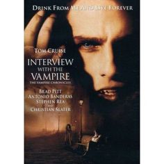 Interview with the Vampire - Directed by Neil Jordan - based on the novel by Anne Rice and starring Tom Cruise, Brad Pitt, Stephen Rea, Antonio Banderas, Kirsten Dunst and Christian Slater 90s Movies, Scary Movies, Great Movies, Horror Movies, Film Horror, Cinema Tv, Films Cinema, I Love Cinema, Film Movie