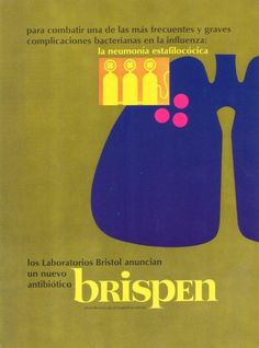 "Centered alignment of ""brispen"" with the three yellow figures near the top creates a visual connection on a vertical axis. The black text at the top and at the bottom are flush left aligned. MD Magazine 1967"