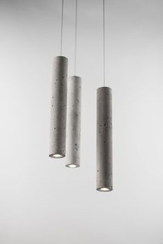Cement Series Lighting by Bentu Design at Salone Satellite 2013 | Yellowtrace