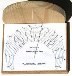 Figure 1: Horizontal Monofilar Standard Time Sundial