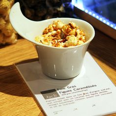 Popcorn with Foie Gras Flavour. That only exisits in Paris!