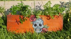 Hand Painted Windowbox by PascoeAndWalitski on Etsy Window Boxes, Planter Pots, Yard, Hand Painted, Unique Jewelry, Handmade Gifts, Outdoor, Vintage, Etsy