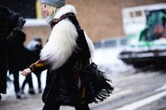 Streetstyle at fashion Week in new York. Part 1 An unexpected snow storm caught the mods Napping