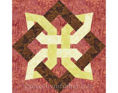Eternity Knot quilt block paper piecing by PieceByNumberQuilts