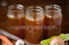 Make your own homemade slow Roasted Beef Broth for the most delicious stock that makes perfect stews, soups, and roasts. I like to call it liquid gold!