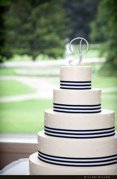 Nautical wedding cake with anchors - perfect for a nautical baby shower! Description from pinterest.com. I searched for this on bing.com/images