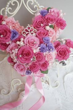 Princess Carriage, Flower Pots, Minnie Mouse, Wedding Flowers, Floral Wreath, Bouquet, Wreaths, Rose, Pink