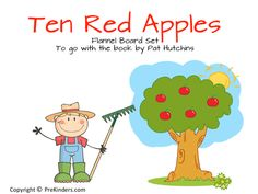 Here is a new flannel board set I made for the book Ten Red Apples, by Pat Hutchins. This is a counting book that would go well with an Apple theme or a Farm theme. To make these, I printed them on card stock paper, laminated and cut out, and added a Velcro tab to …