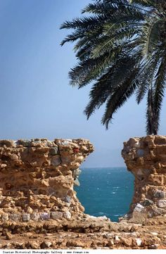A view from the inside of Portugese Castle in Qeshm Island