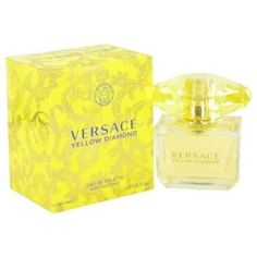 Versace Perfumes Women Eau De Toilette -- This is a great fragrance for everyday use. You feel good spraying it on.  YELLOW DIAMOND women's perfume was launched by the designer house of GIANNI VERSACE in 2011. This floral women's fragrance possesses a blend of citron, pear sorbet, bergamot, neroli, orange blossom, freesia, mimosa, nymphea, amber, palo santo wood and musk. (Perfumania)