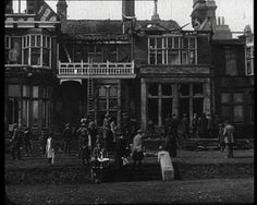 Suffragettes set alight the home of an MP who opposed rights for women. Short 1913 newsreel: http://www.britishpathe.com/video/st-leonards-outrage/