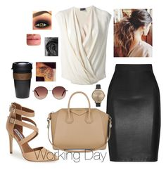 """Working Day"" by boiteasecrets ❤ liked on Polyvore featuring Mason by Michelle Mason, Steve Madden, Givenchy, Lanvin, Olivia Burton, Tom Ford, MANGO and KeepCup"