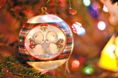 """This ornament symbolizes our first """"married""""  Christmas together."""