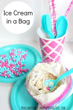 ice cream in a bag easy recipe! simple science for the kids on FSPDT