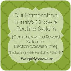 Our Chore & Routine System {Vlog} Including FREE Printable charts #homeschool