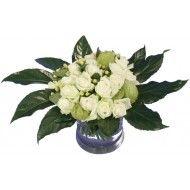 Witte rozen compact boeket  Vanaf: €19,95