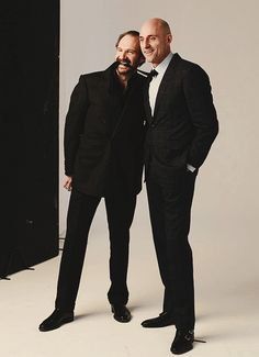 Ralph Fiennes and Mark Strong, photographed for The Times